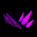 Stegosaur topper icon purple