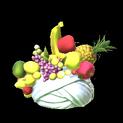 Fruit hat topper icon titanium white