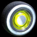 Ratrod wheel icon saffron