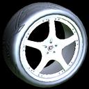 Yuzo wheel icon titanium white