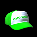 Trucker hat topper icon forest green