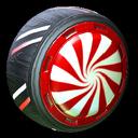 Peppermint wheel icon crimson