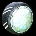 Peppermint wheel icon titanium white