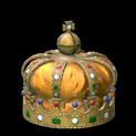Royal crown topper icon orange