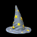 Wizard hat topper icon grey