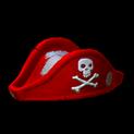 Pirates hat topper icon crimson