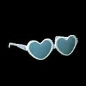 Heart glasses topper icon titanium white