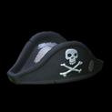 Pirates hat topper icon black