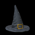 Witchs hat topper icon black