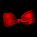 Little bow topper icon crimson