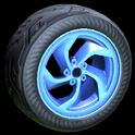 Vortex wheel icon cobalt