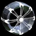 Picket Holographic wheel icon titanium white