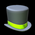Top hat topper icon lime