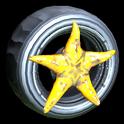 Asterias wheel icon orange