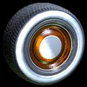 Ratrod wheel icon burnt sienna