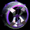 Blender wheel icon purple