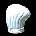 Chefs hat topper icon titanium white