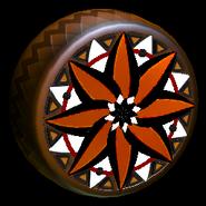 Mandala wheel icon burnt sienna