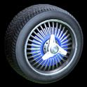 Lowrider wheel icon cobalt