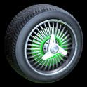 Lowrider wheel icon forest green