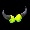 Devil horns topper icon lime
