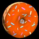 Doughnut wheel icon burnt sienna