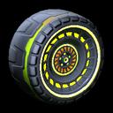 Spiralis wheel icon lime