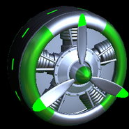 Propeller wheel icon forest green