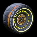 Spiralis wheel icon orange