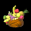 Fruit hat topper icon burnt sienna