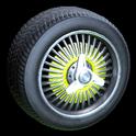 Lowrider wheel icon saffron