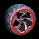 Chakram wheel icon crimson