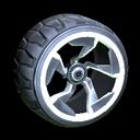 Chakram wheel icon titanium white