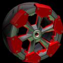 Clodhopper wheel icon crimson