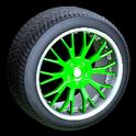 Sunburst wheel icon forest green