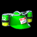 Drink helmet topper icon forest green