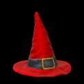 Witchs hat topper icon crimson