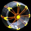 Picket Holographic wheel icon orange