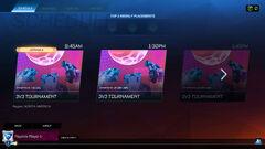 Tournaments queue screen