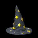 Wizard hat topper icon black