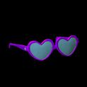 Heart glasses topper icon purple