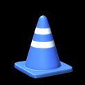 Traffic cone topper icon cobalt