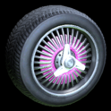 Lowrider wheel icon pink