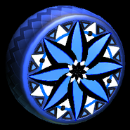 Mandala wheel icon cobalt