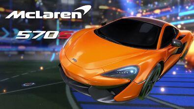 McLaren 570S in the trailer