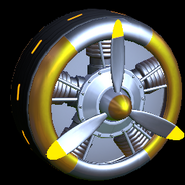 Propeller wheel icon orange