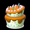 Birthday cake topper icon burnt sienna