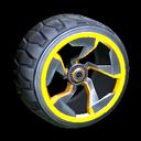 Chakram wheel icon orange