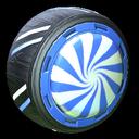 Peppermint wheel icon cobalt