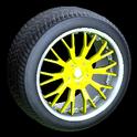 Sunburst wheel icon saffron